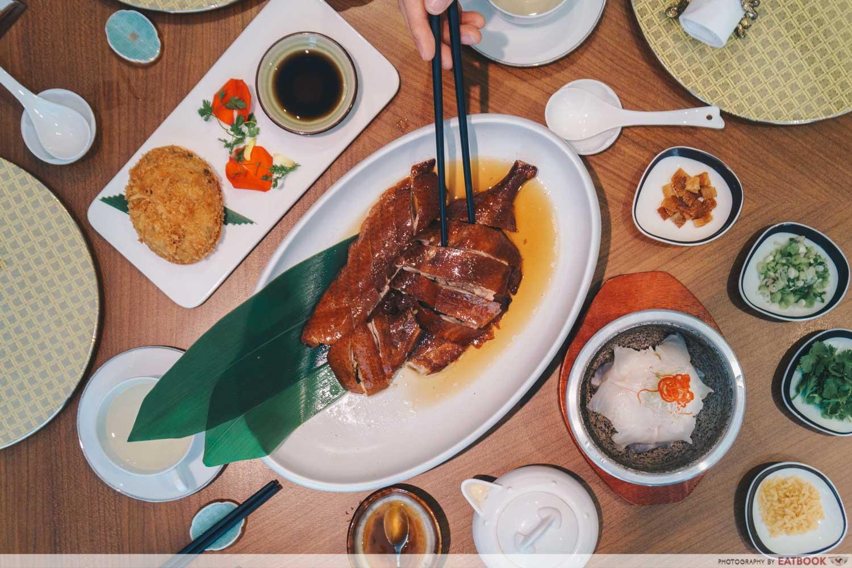 Maybank Michelin Chinese Restaurants Hua Ting flatlay