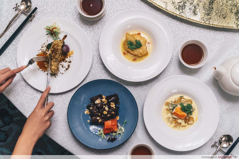 Maybank Michelin Chinese Restaurants Yan Ting flatlay