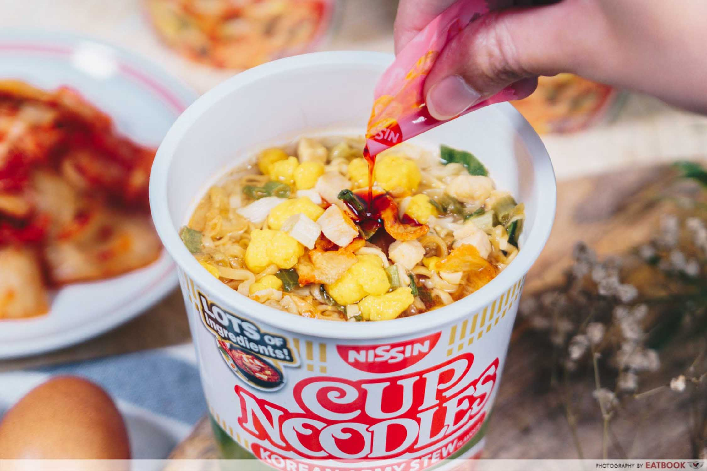 Nissin Korean Army Stew Noodles - Base Closeup