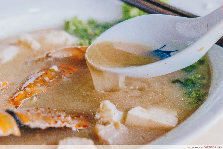 Shun Feng Crayfish Delight - Broth Closeup