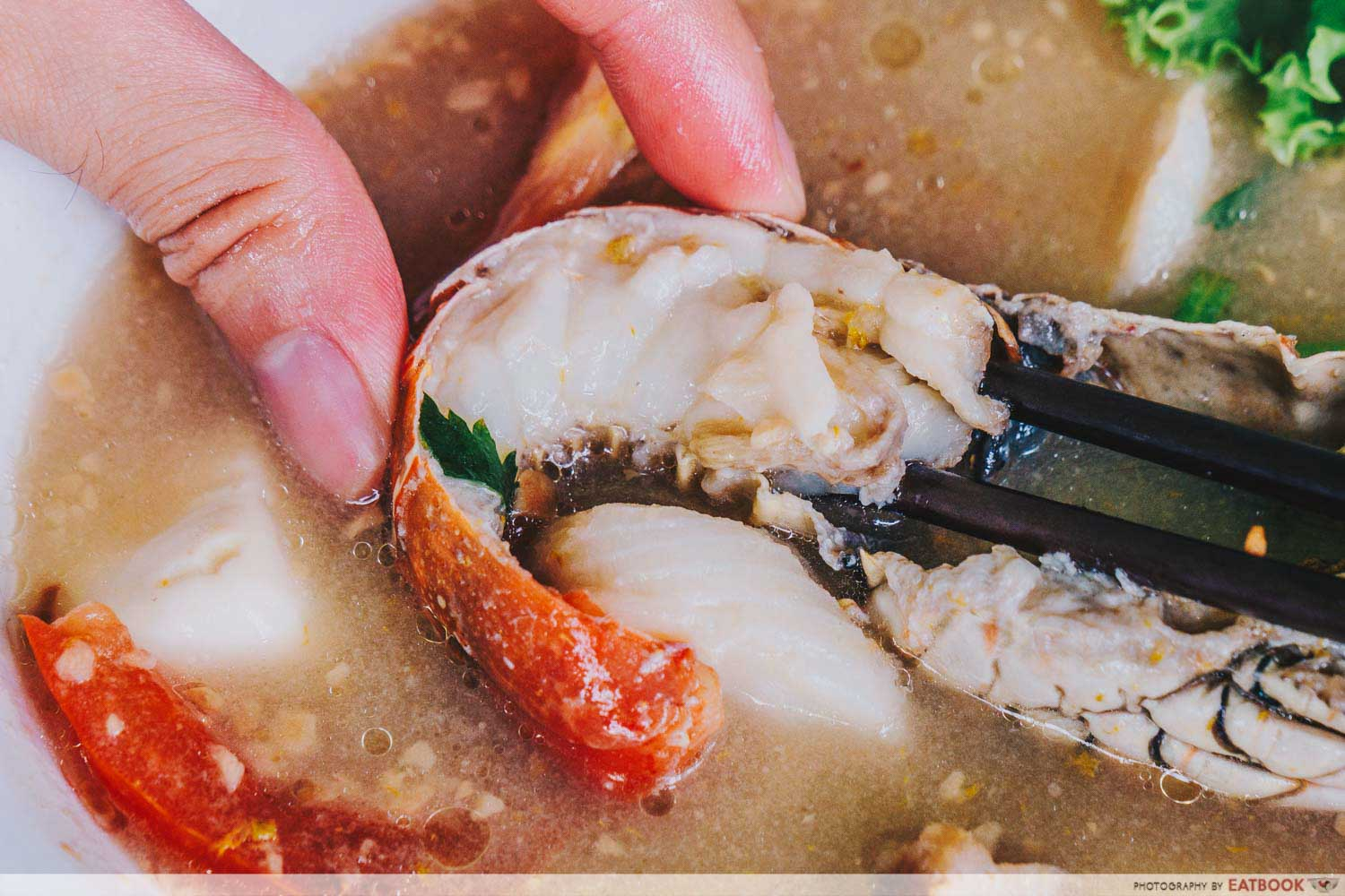 Shun Feng Crayfish Delight - Spiny Lobster Meat Closeup