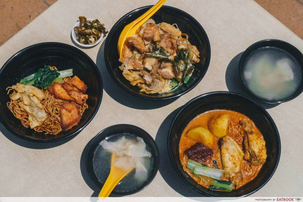 Tay Kee Noodle House Flatlay