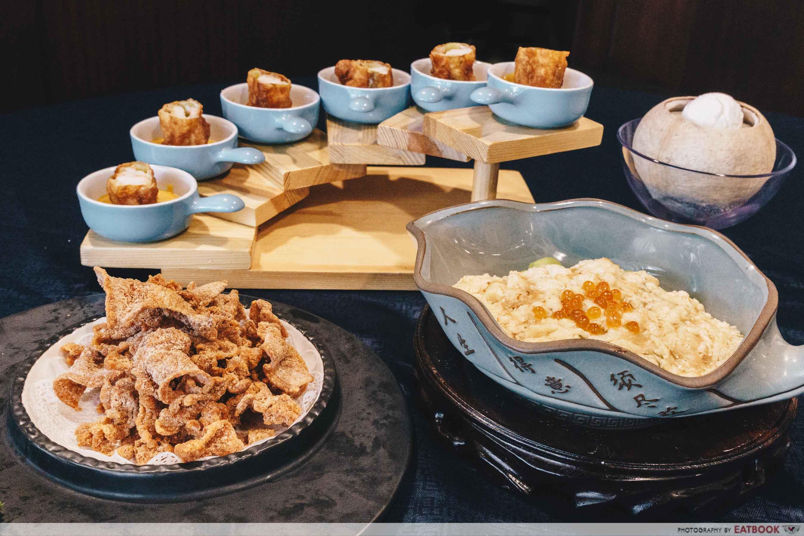 maybank michelin chinese restaurants chef kang's flatlay