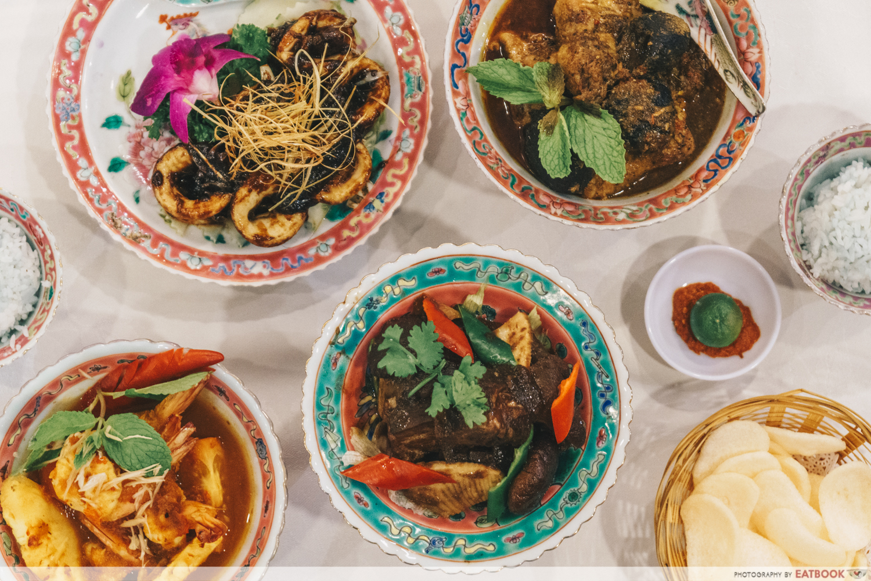 maybank michelin chinese restaurants straits chinese flatlay