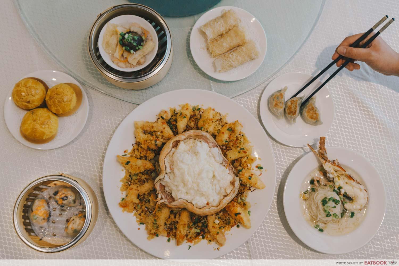 maybank michelin chinese restaurants wah lok flatlay