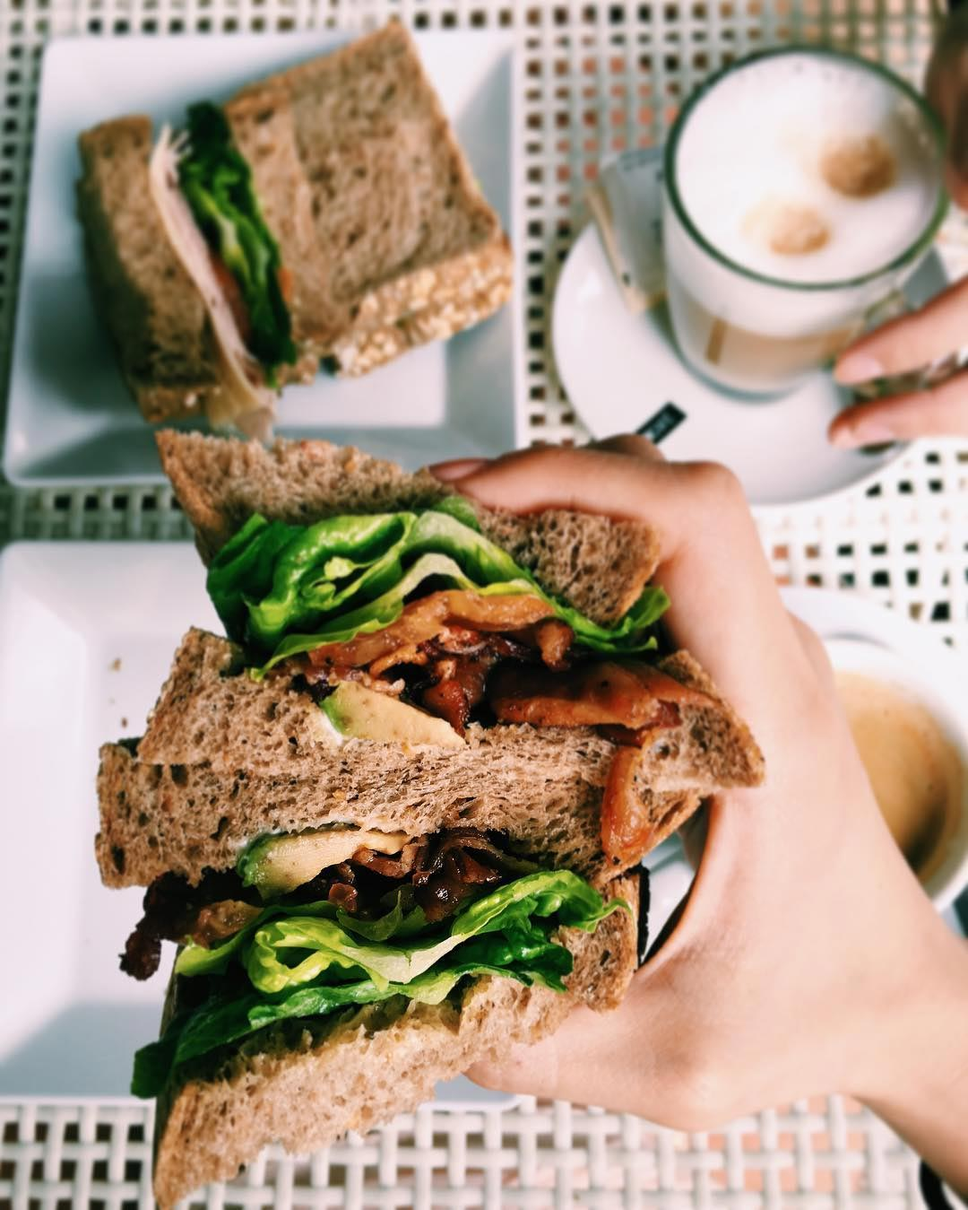 sandwiches freshly baked by le bijoux