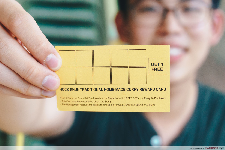 Hock Shun Curry loyalty card