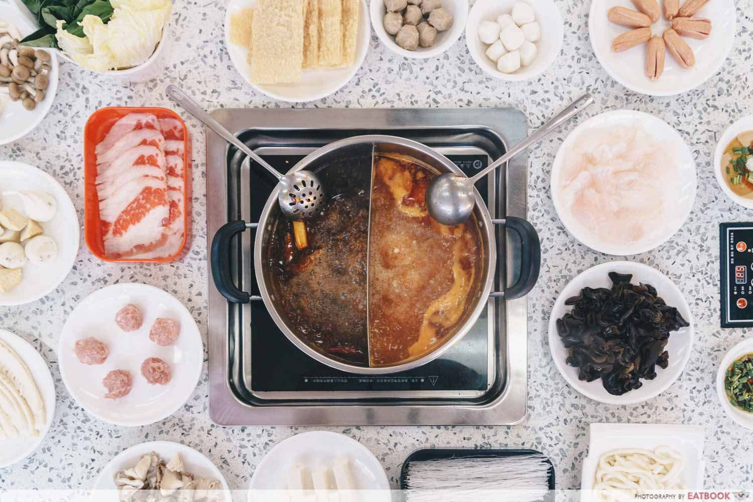 12 New Restaurants June - Shan Pin Steamboat flatlay