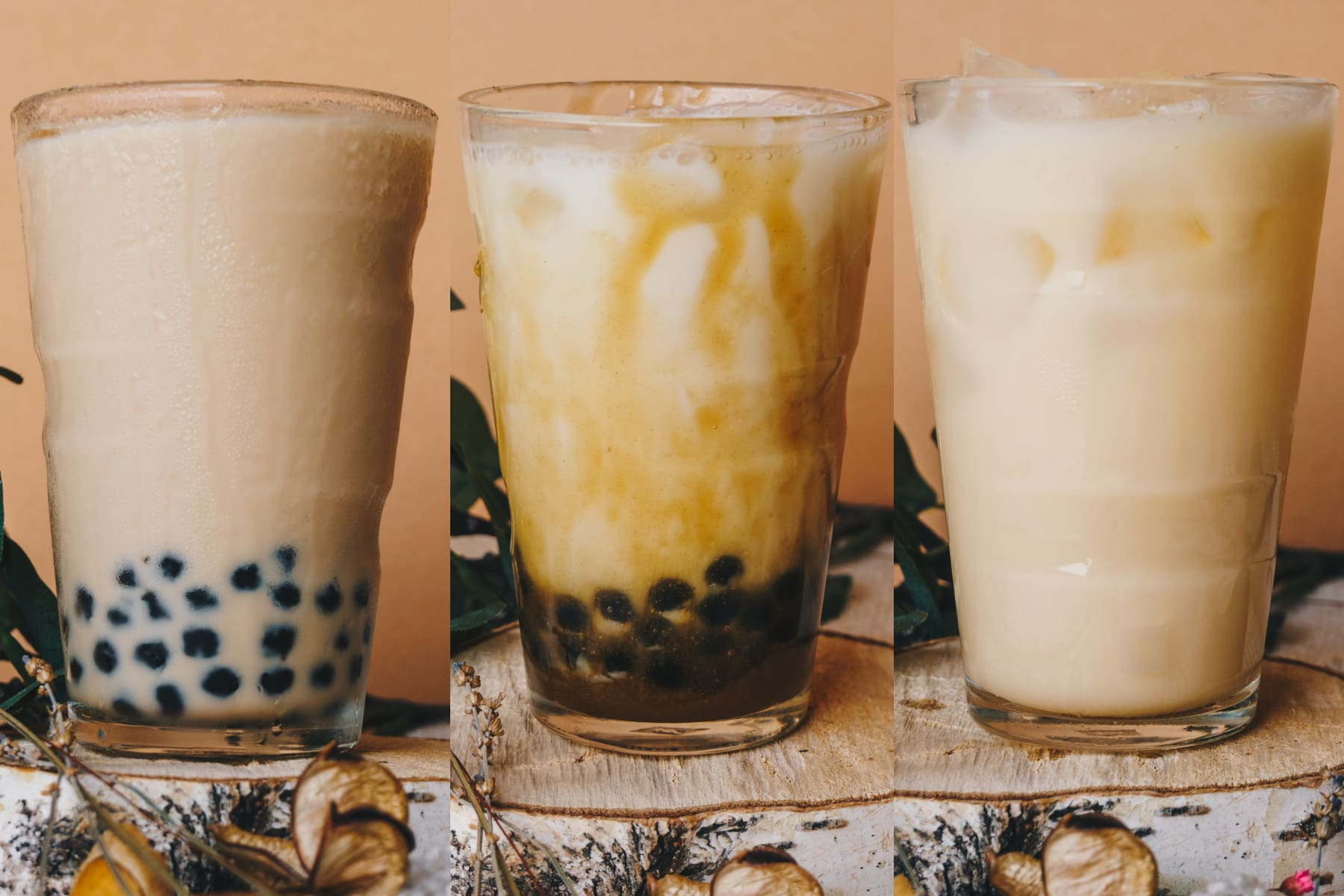 3 Bubble Tea Recipies - collage