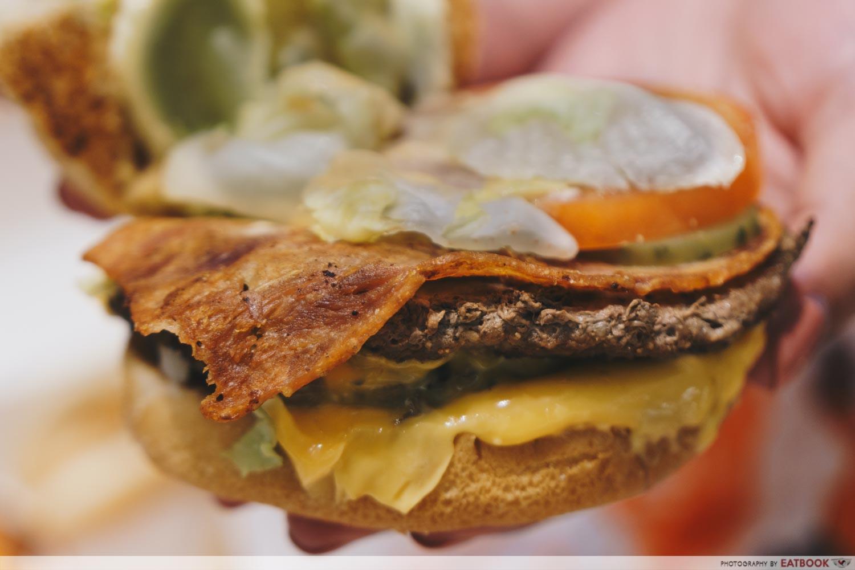A&W - Mozza Burger Ingredients