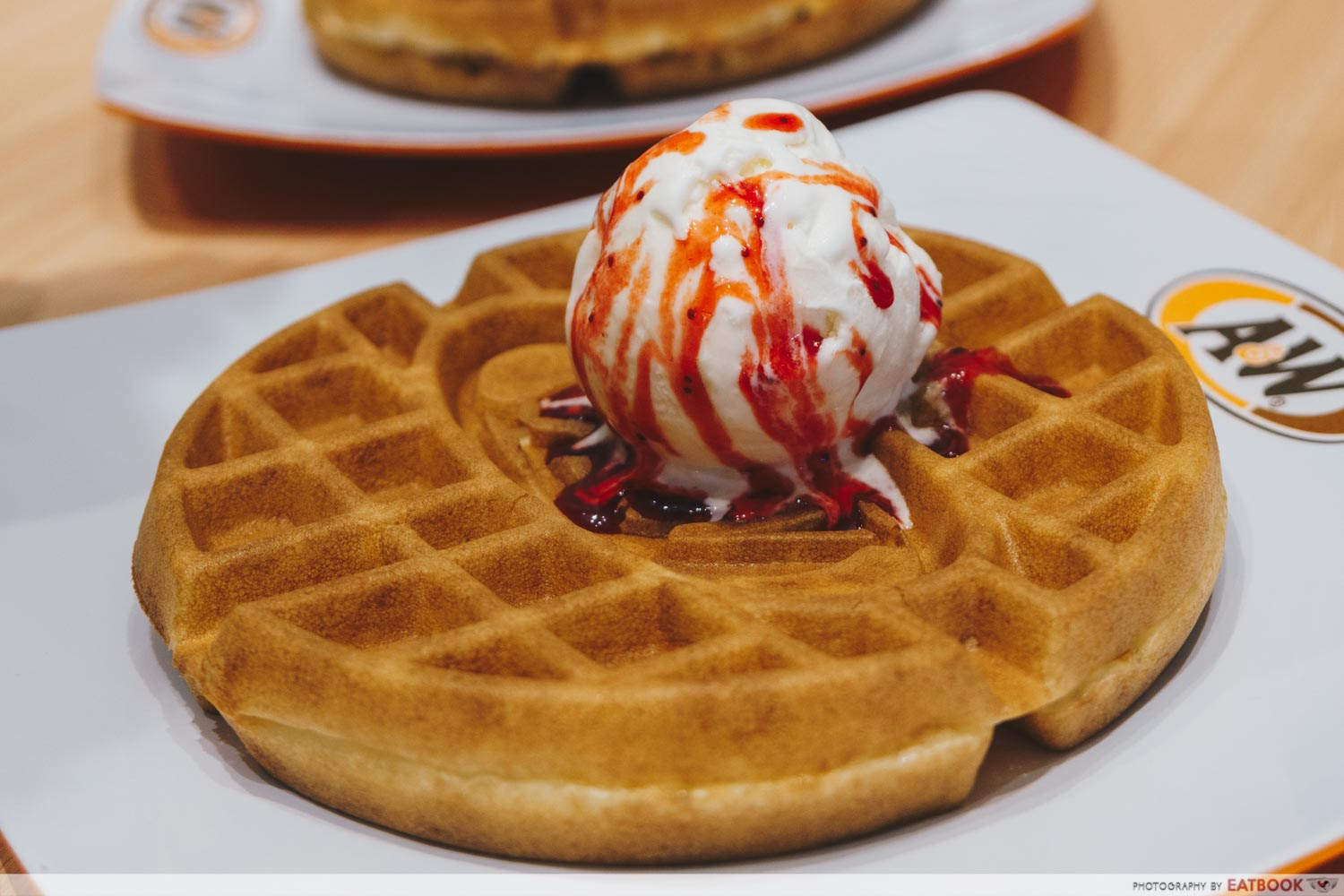 A&W - Waffle Ice Cream with Topping