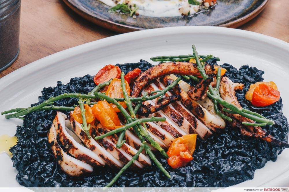 Brunch cafes The Botanic Squid ink rice