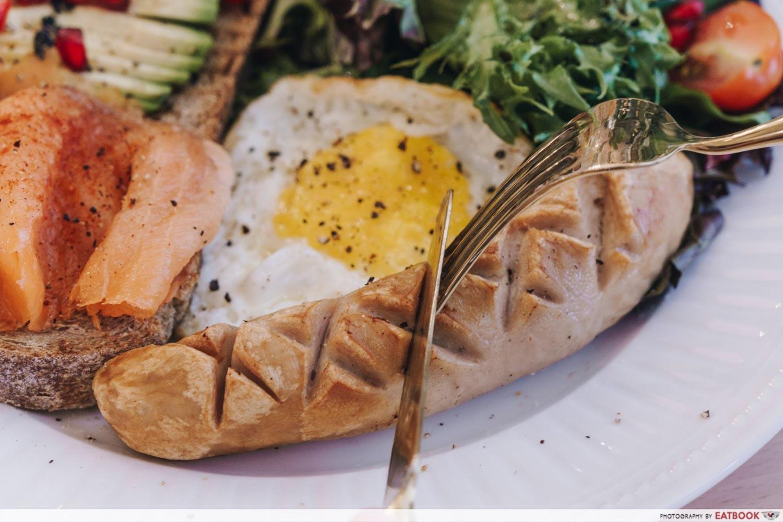Cafe De Nicole's Flower - Pork Sausage Closeup