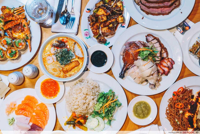 Maybank Buffet - Town Restaurant Flatlay