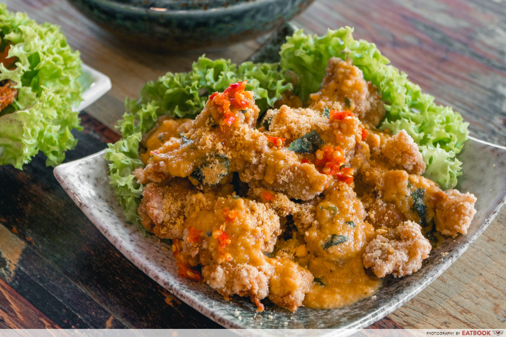 Paradise Gastronomy - salted egg chicken