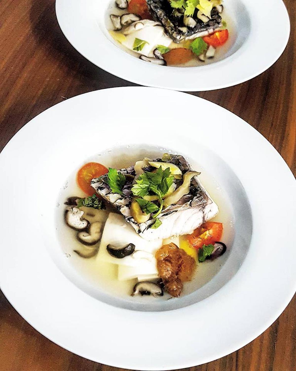 Private Home Dining - The Wood Ear Barramundi