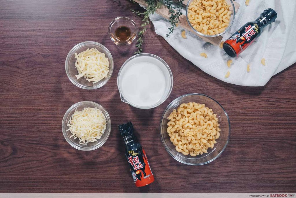 Samyang Mac & Cheese Recipe ingredients