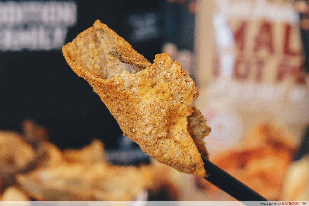 The Golden Duck Ma la crispy fish skin