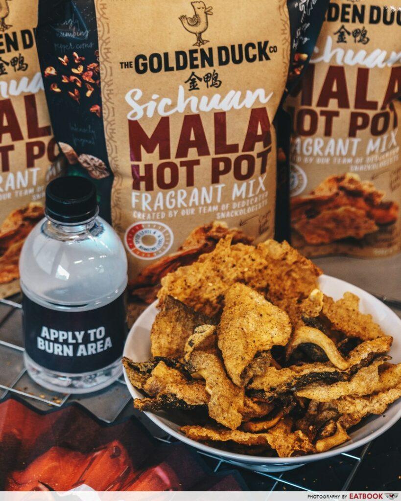 The Golden Duck Ma la fish skin