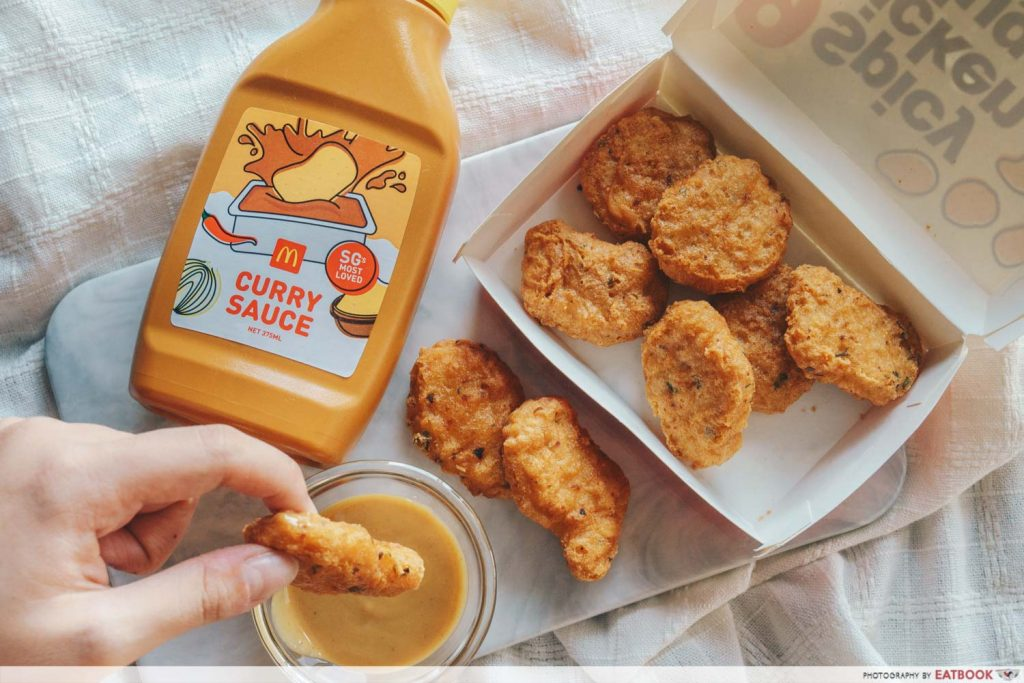 McDonald's Spicy McNuggets - Curry Sauce and Nuggets