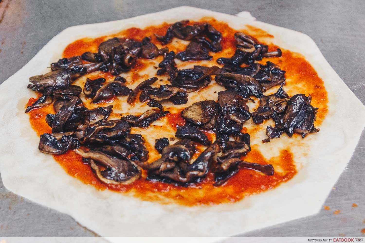 ButterNut - pizza make with mushrooms