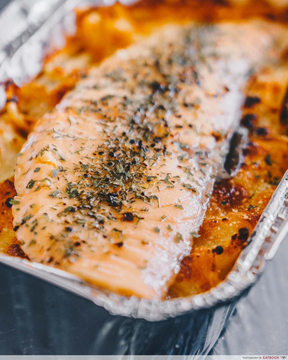 ButterNut - salmon on baked mea;