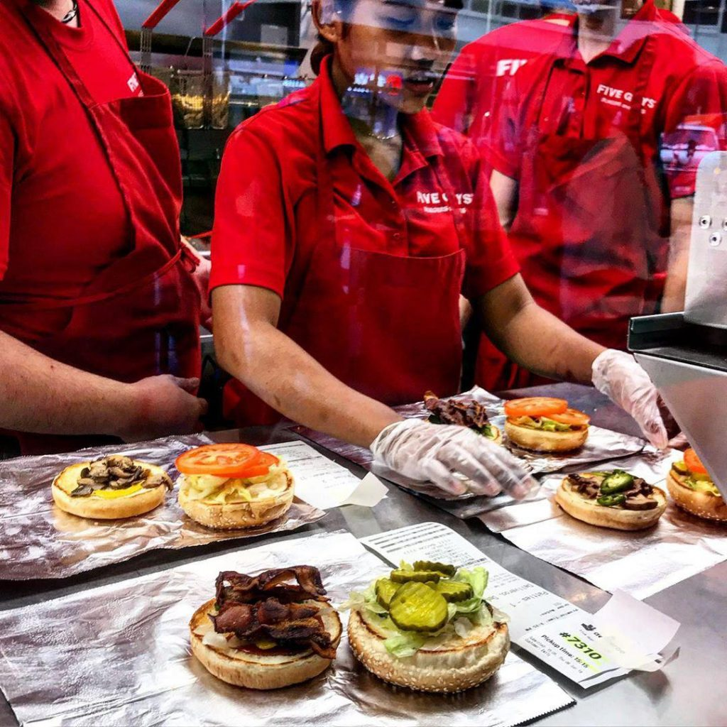 Five guys toppings