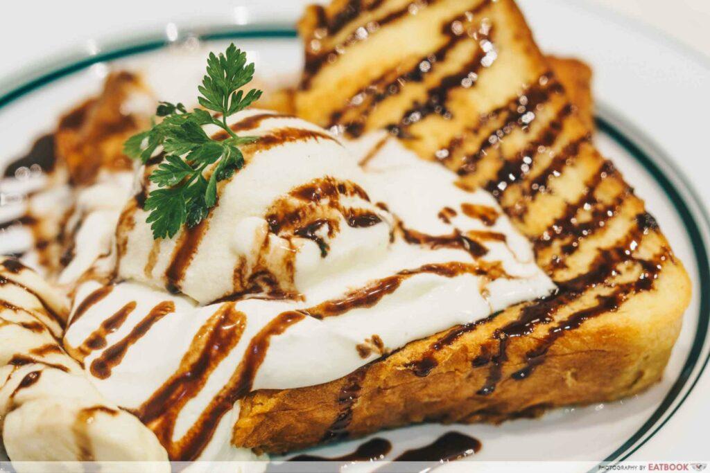 Gram Cafe & Pancakes vivo French Toast of Chocolate Banana