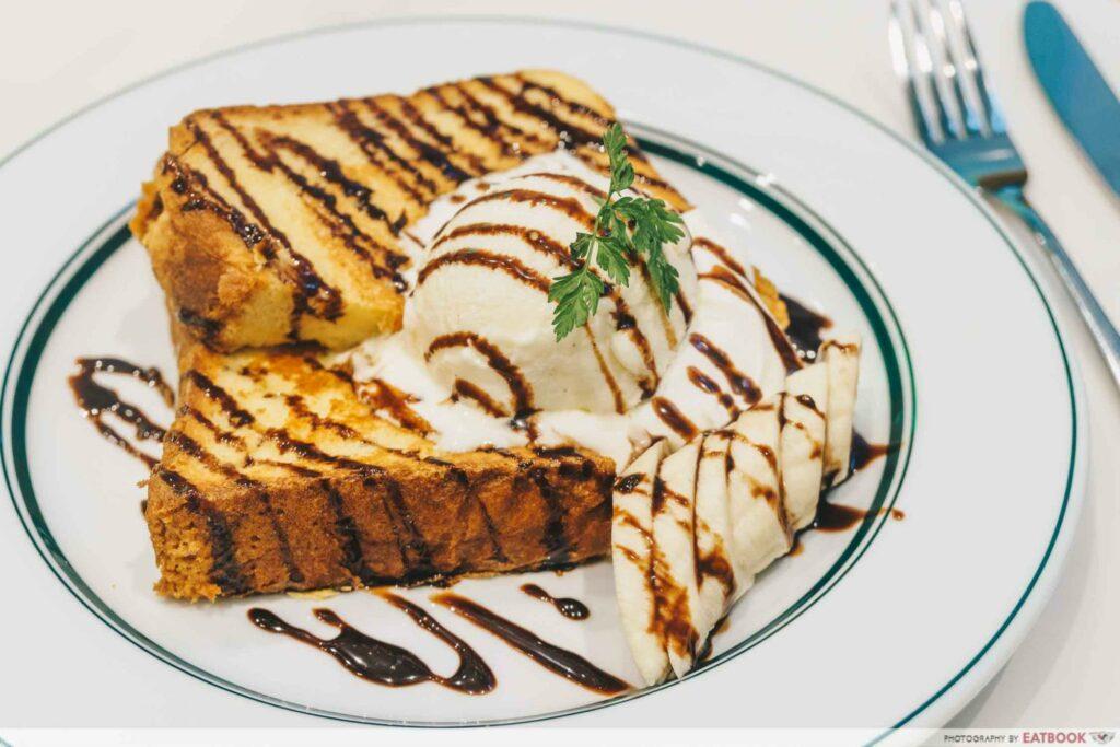 Gram Cafe & Pancakes vivoFrench Toast of Chocolate Banana