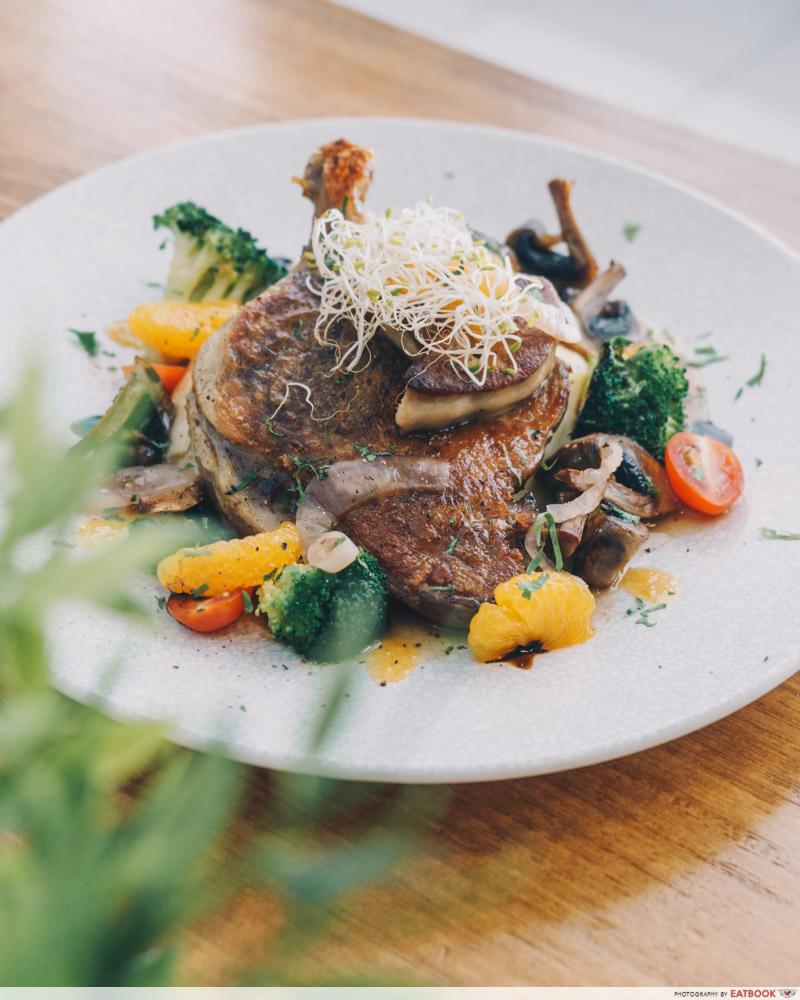 Hunger's Kitchen - duck confit with foie gras