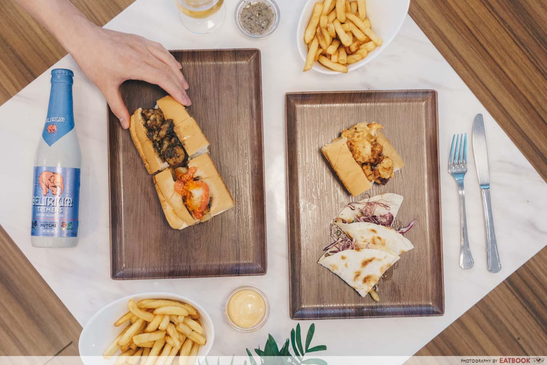 Lobsters & Ice Cream V2.0 - flatlay marbel table