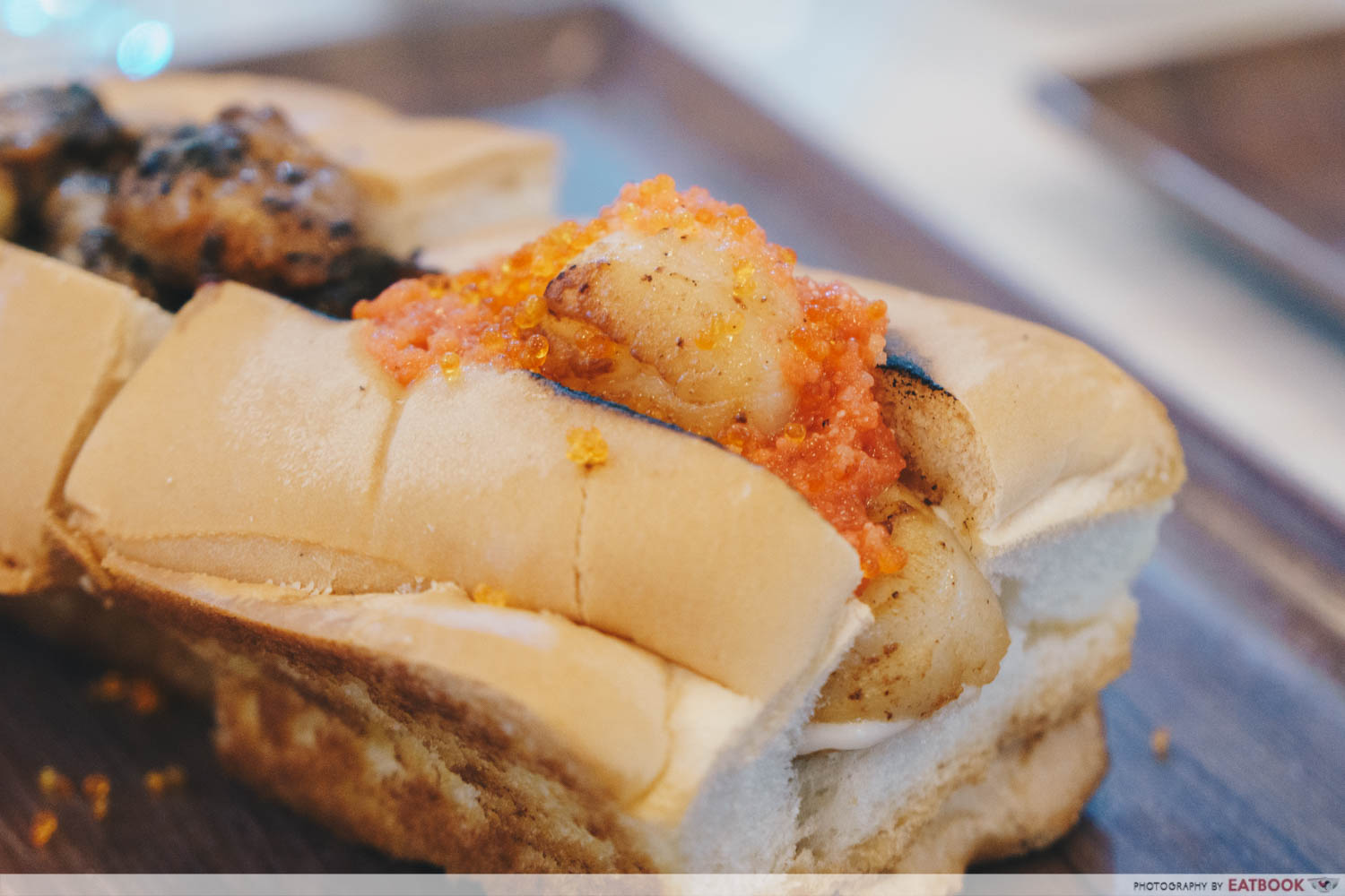 Lobsters & Ice Cream V2.0 - scallop mentaiko roll