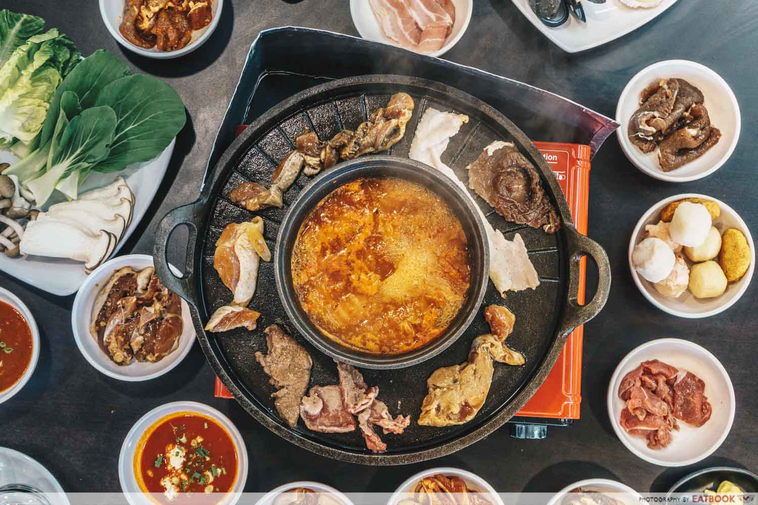 Michin Korean BBQ And Hotpot flatlay