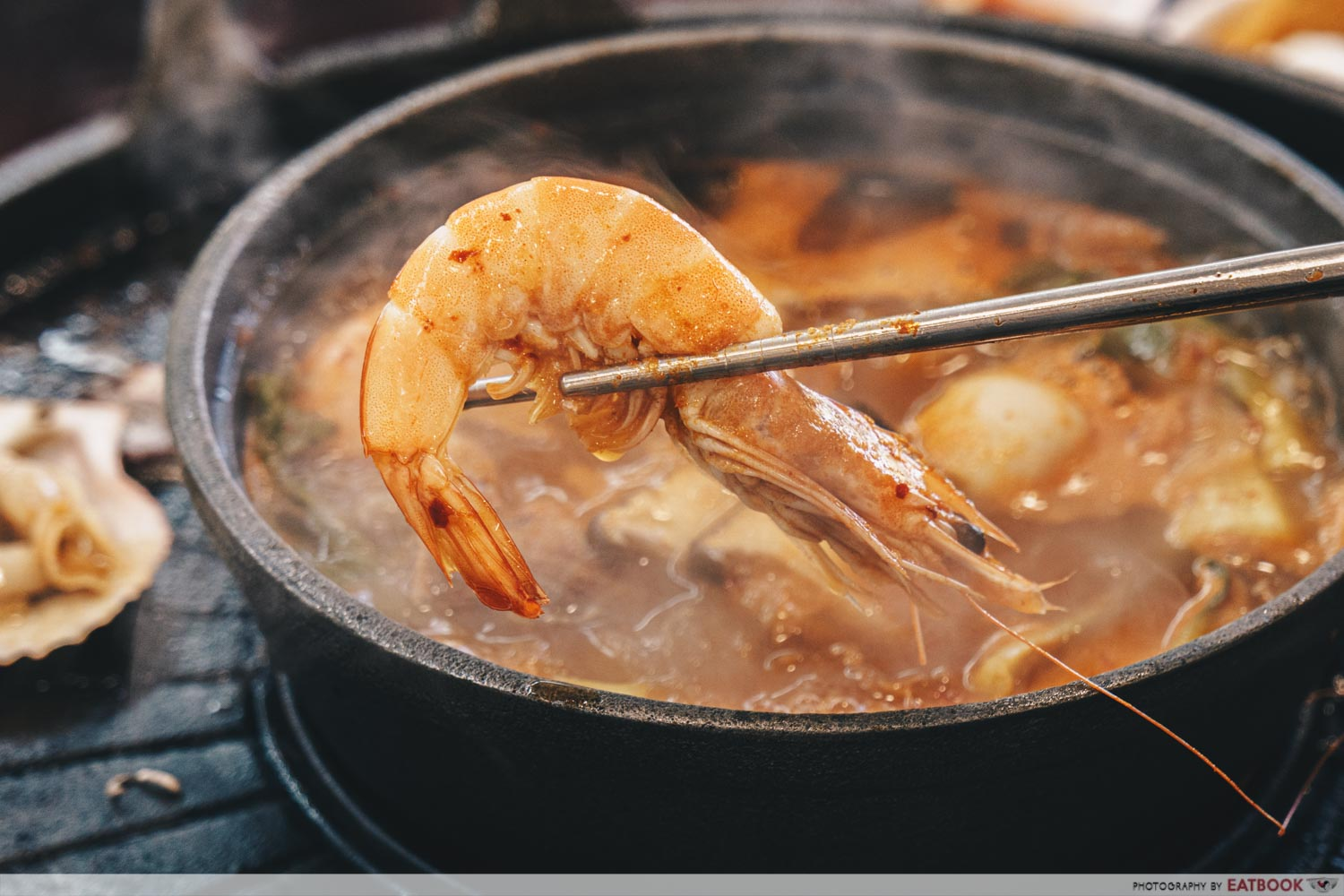 Michin Korean BBQ And Hotpot prawns