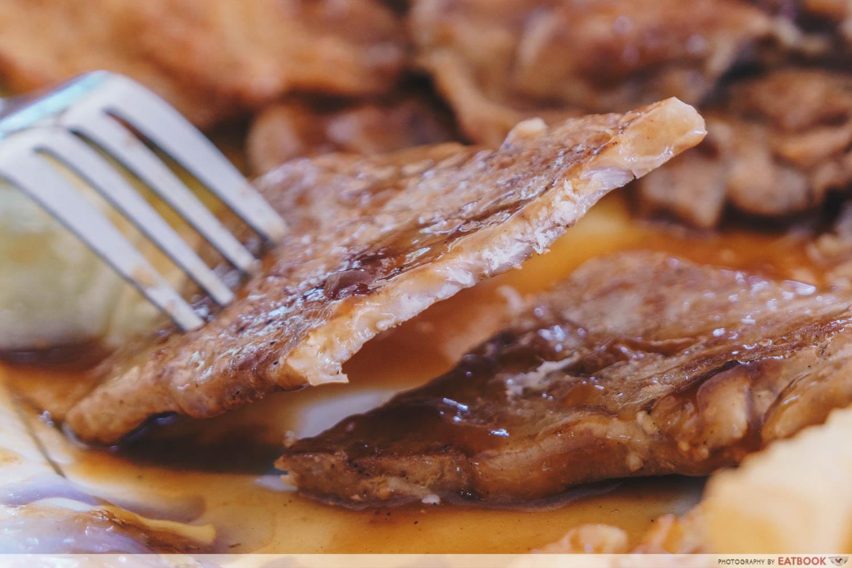 Raffles Western Delight - Pork Chop Closeup
