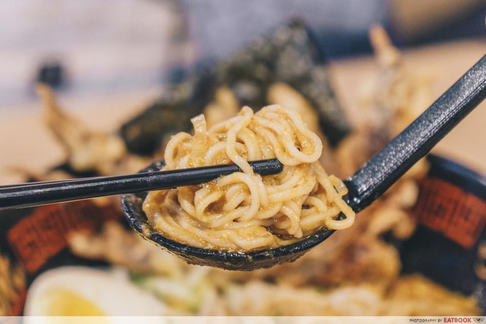 Takagi Ramen - Chilli Crab Noodle Closeup