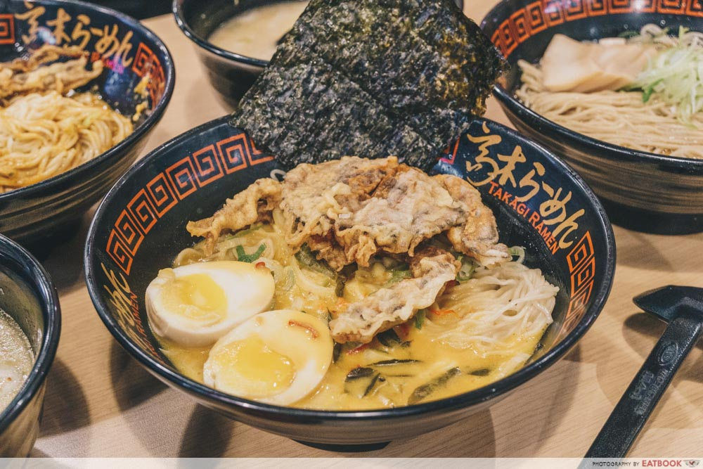 Takagi Ramen - Salted Egg Soft-Shell Crab Ramen