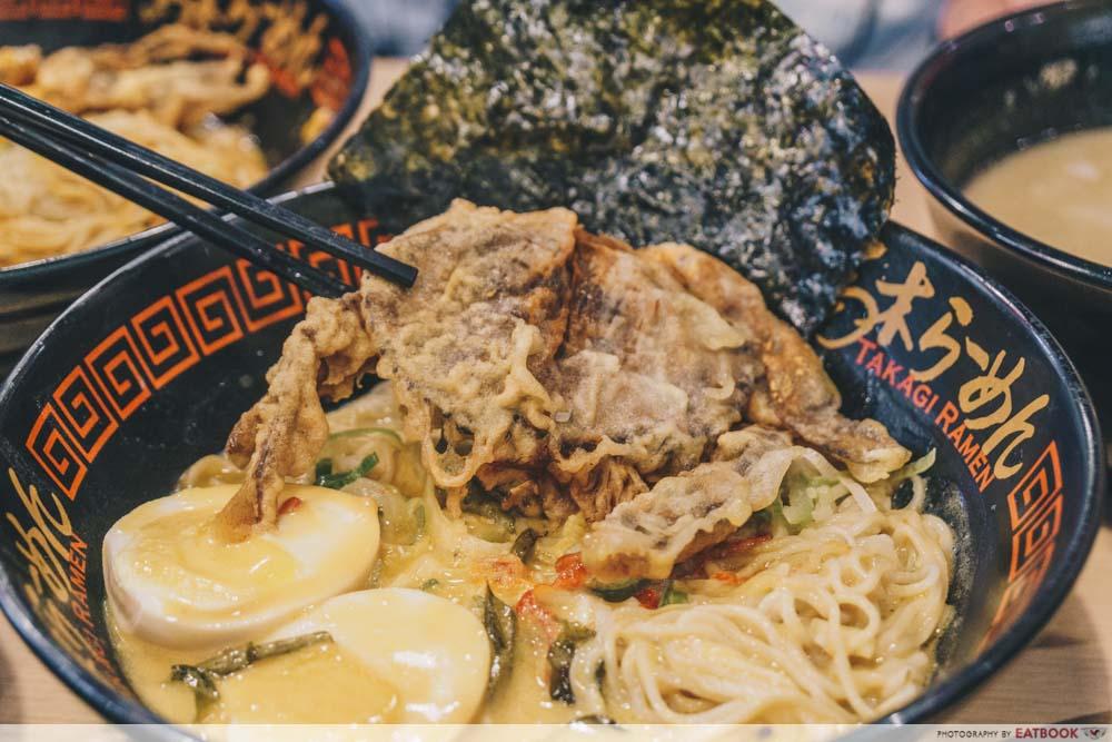 Takagi Ramen - Soft Shell Crab Closeup