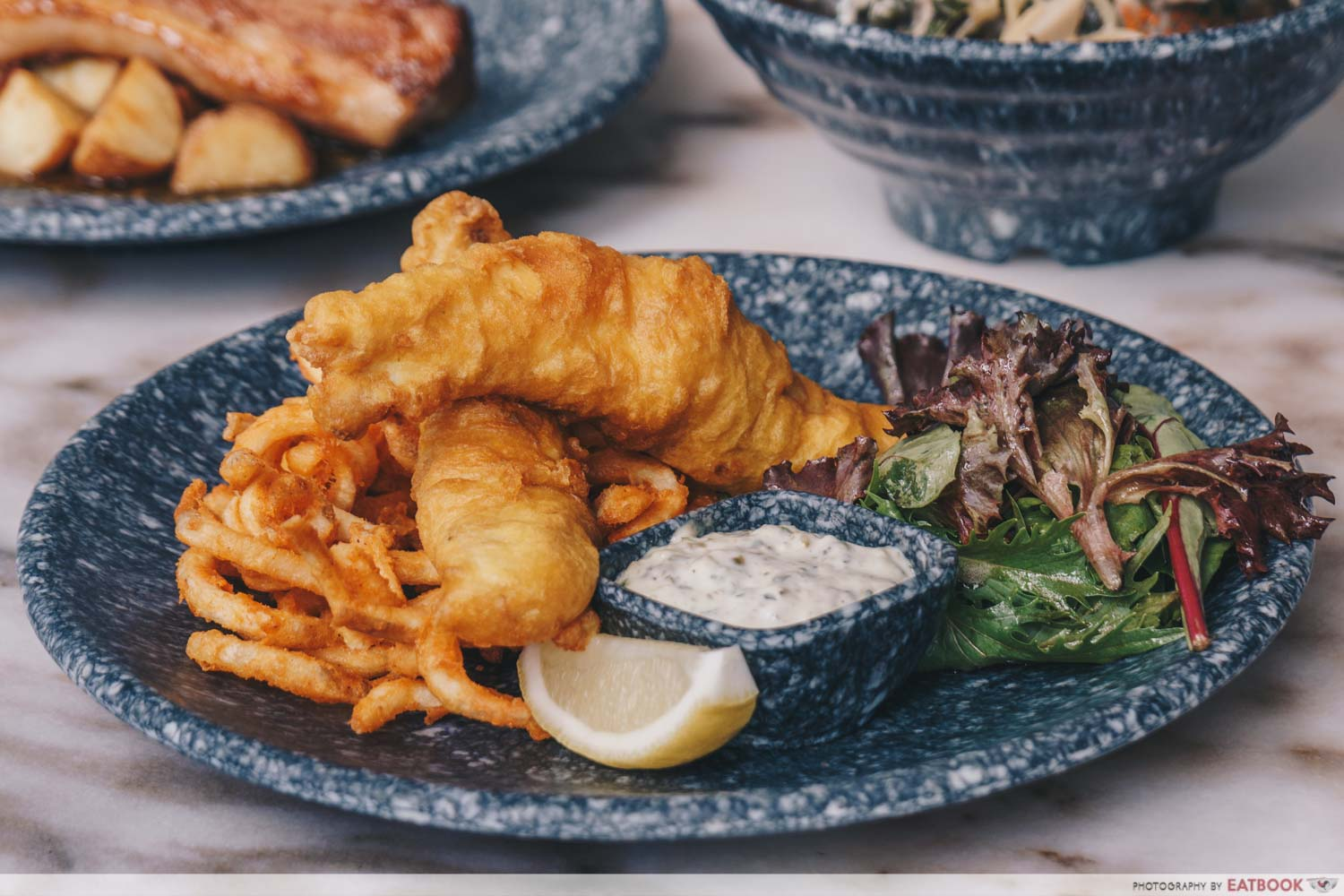 The Tipsy Wolves - Beer Battered Barramundi And Chips