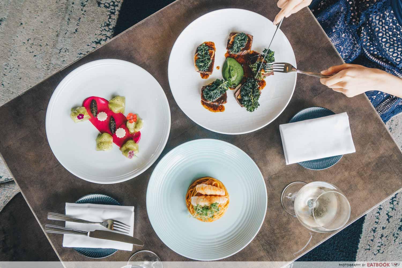maybank michelin beautiful restaurants aura flatlay