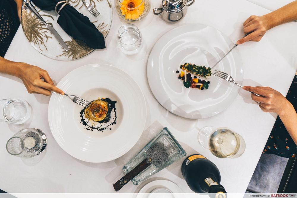maybank michelin beautiful restaurants buona terra flatlay