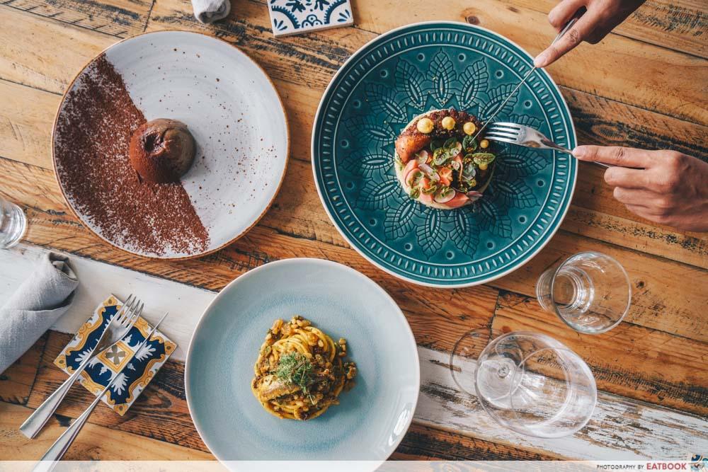 maybank michelin beautiful restaurants gattopardo flatlay