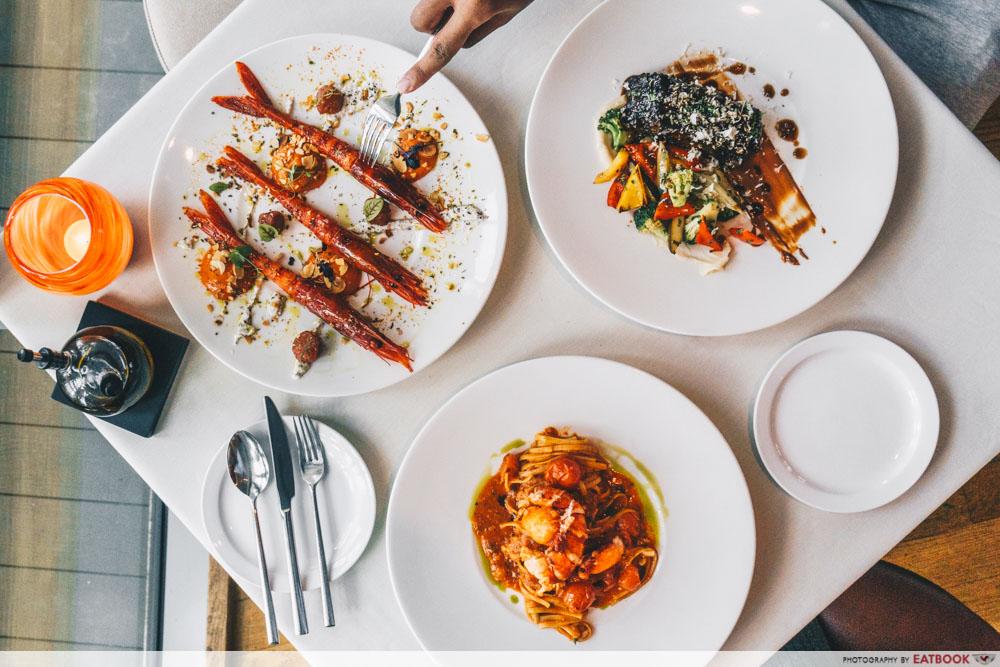 maybank michelin beautiful restaurants zafferano flatlay