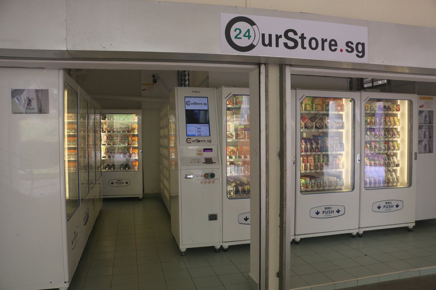 vending machines groceries