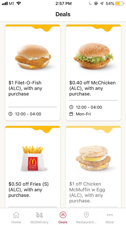 $1 Filet O Fish - App