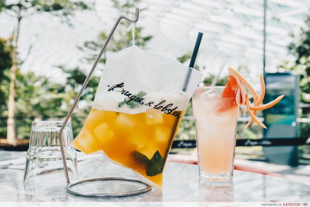 Burger & Lobster Raffles Hotel Singapore Drinks
