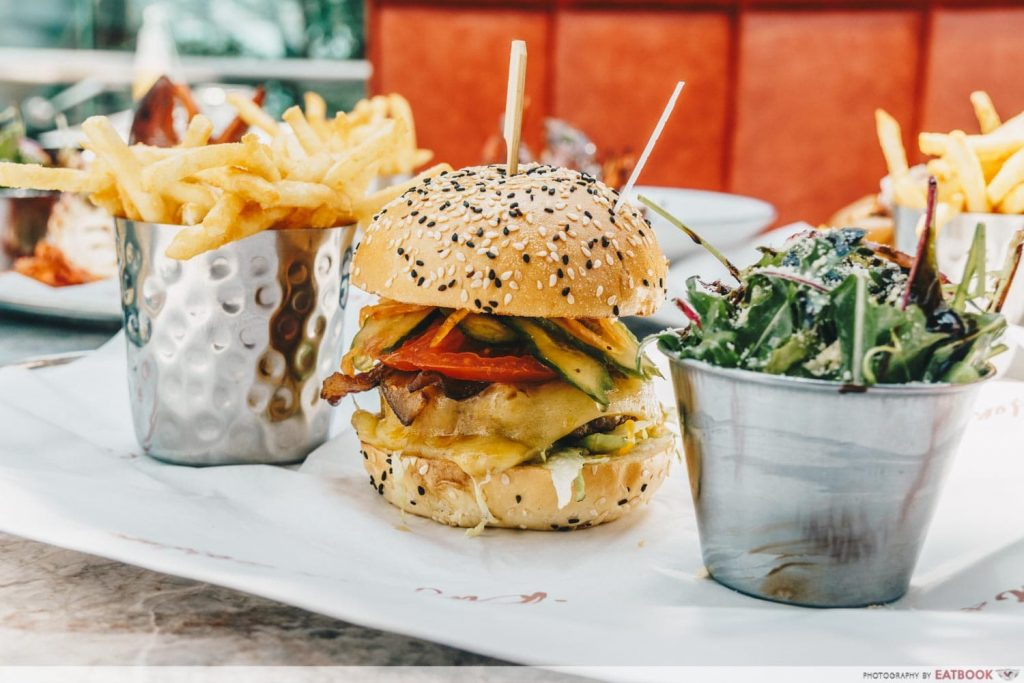 Burger & Lobster Raffles Hotel Singapore Mayfair Burger