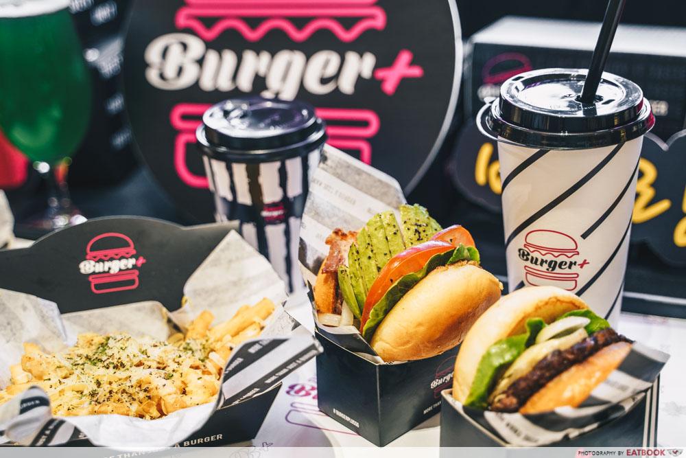 Burger+flatlay
