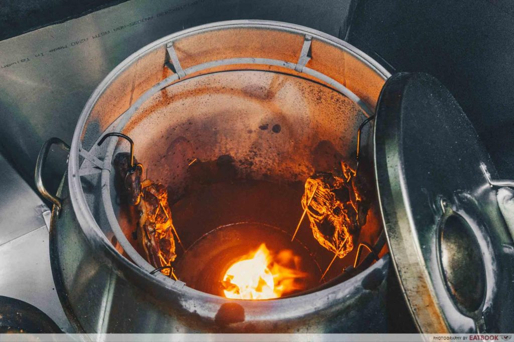 Eat3Cuts charcoal oven