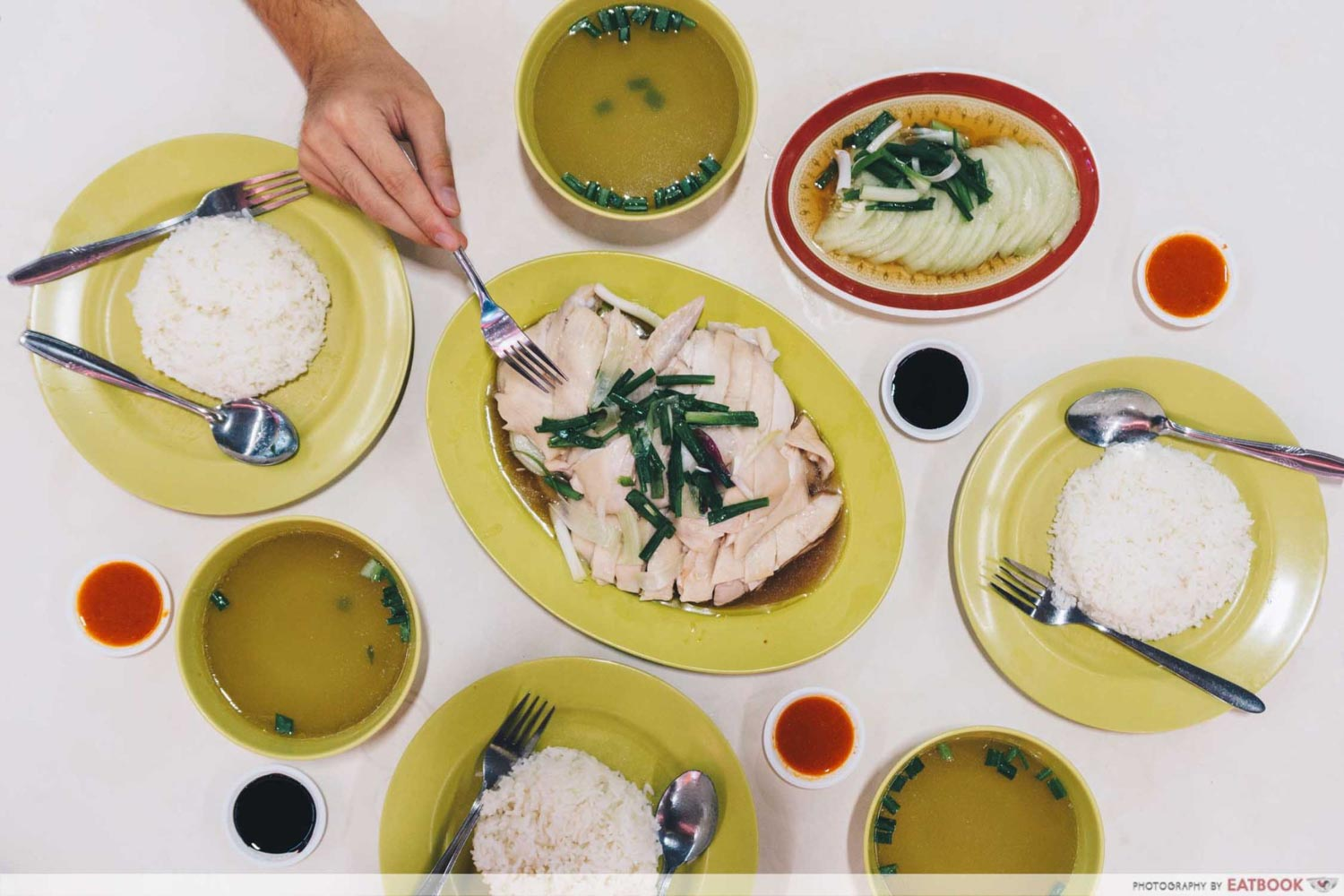 Hua Kee Chicken Rice - Flatlay
